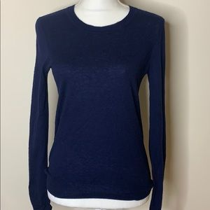 Tory Burch Cashmere Navy Sweater Small
